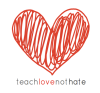 teach love not hate logo